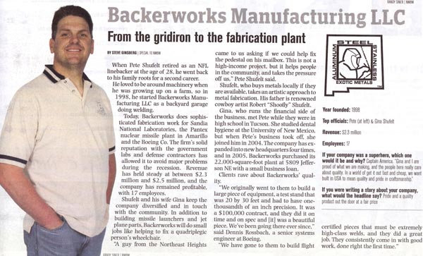 New Mexico Business Weekly - Small Business heavyweights article